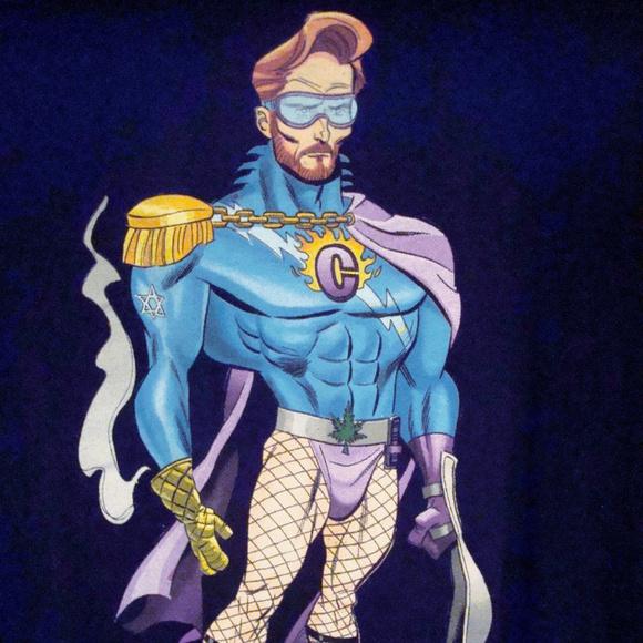 Tops - Conan O'Brien The Flaming C Superhero Medium